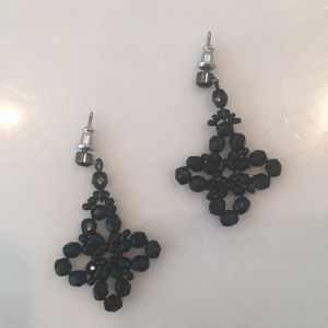 J Crew black drop earrings